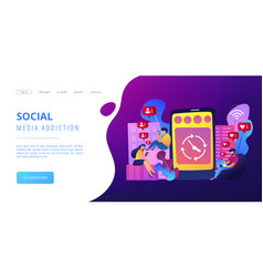 mindlessly scrolling concept landing page vector image