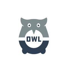 modern owl head logo vector image