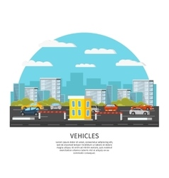 Modern Vehicles Template vector