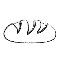 monochrome sketch contour of bread vector image