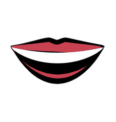mouth lips smile comic image vector image
