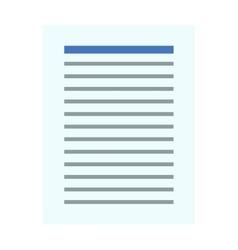 Notebook document checklist test vector image