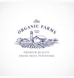organic farms abstract sign symbol or vector image