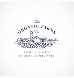 organic farms abstract sign symbol vector image