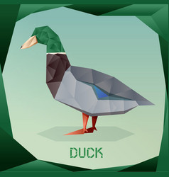 origami simple duck vector image