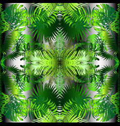 palm leaves decorative seamless pattern vector image