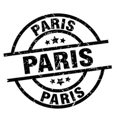 Paris black round grunge stamp vector