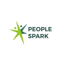 people spark health active logo icon vector image