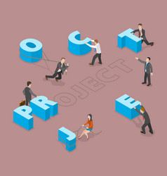 project flat isometric concept vector image