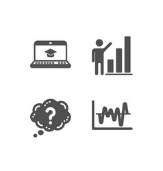Question mark website education and graph chart vector
