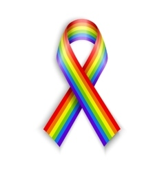 Rainbow Ribbons Isolated on white with vector