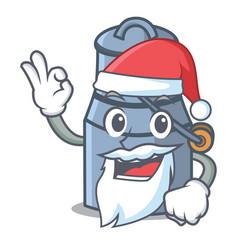 Santa milk can mascot cartoon vector