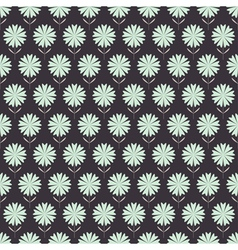 Seamless floral pattern with geometric flowers vector image