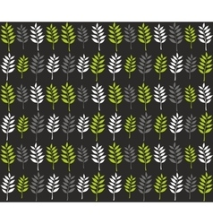 Seamless pattern with spring leaves in line vector