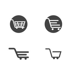 shop store basket icon template vector image