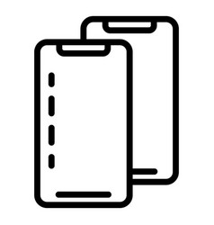 Smartphones icon outline style vector