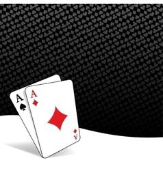 Stylized poker background vector image