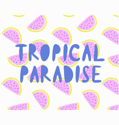summer time lettering vector image