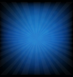 sunburst blue retro poster vector image