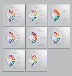 Templates infographic 2 3 4 5 6 7 8 9 positions vector