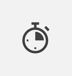time flat icon stopwatch logo icon vector image