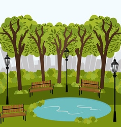 Urban park design vector image