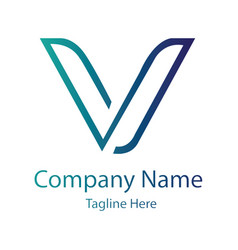 v letter logo design vector image