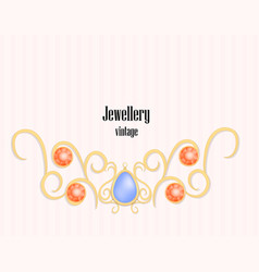 vintage jewellery concept background realistic vector image