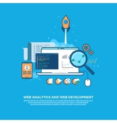 Web analytics information and website development vector