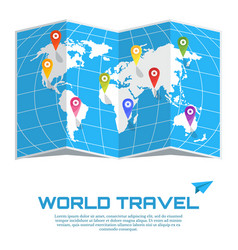 world travel poster vector image
