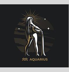 Zodiac sign aquarius vector