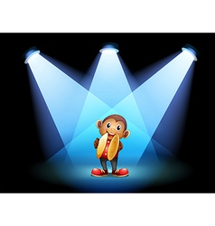 A monkey with cymbals at the stage vector image vector image