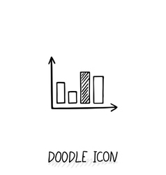 doodle diagram icon Chart with columns vector image