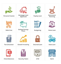 Personal Business Finance Icons Set 2 vector image vector image