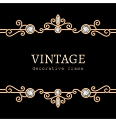 Vintage gold jewelry frame vector image vector image
