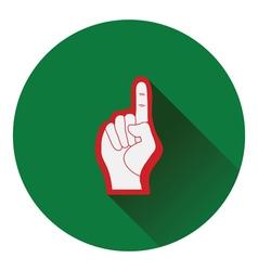 American football foam finger icon vector image