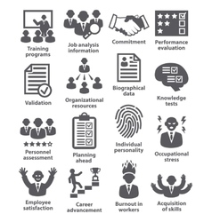 Business management icons Pack 23 vector image