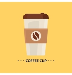 flat Coffee cup icon vector image