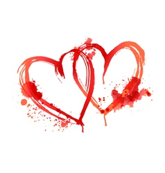 heart blood stains vector image vector image