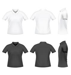 Men polo tshirts vector