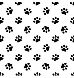 pattern with animal footprints vector image