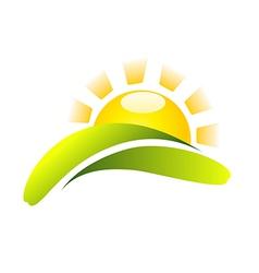Sun Icon Creative Design vector image vector image