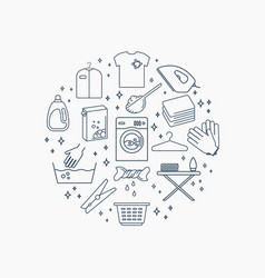 collection of laundry icons set of housework vector image vector image