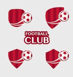 football Badge 6 vector image