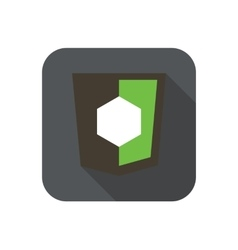 icon web shield with shape symbol for node vector image