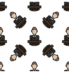 Law flat pattern vector image