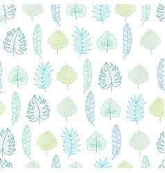 light green and blue geometrical tropical vector image