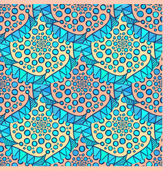 ornamental arabic pattern abstract mosaic vector image vector image