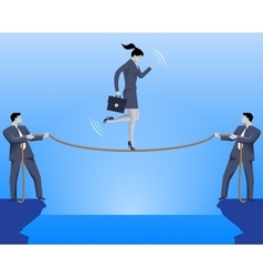 Teamwork during crisis time business concept vector image