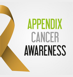 World appendix cancer day awareness poster eps10 vector